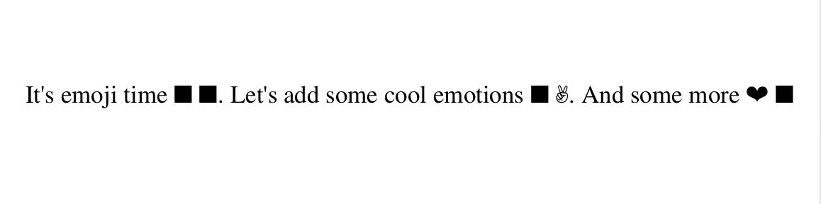 Python: Generating pdf containing emojis using reportlab · Kaviraj